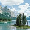 One of Jaspers famous natural attractions - Spirit Island on Maligne Lake