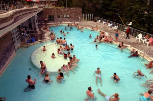 Banff's upper hot springs.