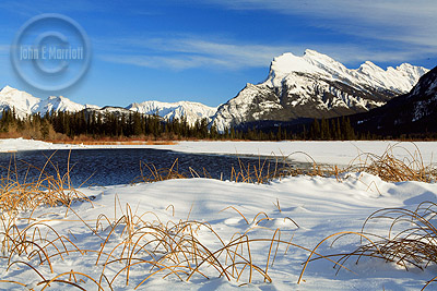 Mt Rundle from Third Vermilion Lake, December 2008
