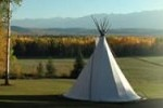 A teepee at the Goldenwood Lodge near Golden.