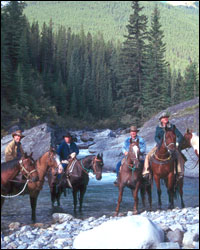 Take your team on a horse back adventure in the Canadian Rockies.