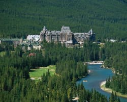 For true style, try teh Banff Springs Hotel.
