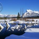 Mount Rundle's Winter wonderland.