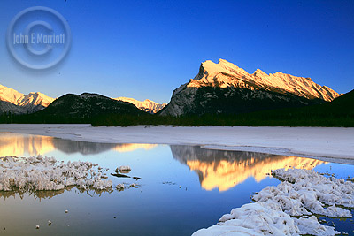 Mount Rundle and Vermilion Lakes, Banff Winter Photography