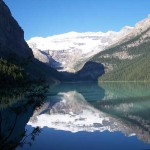 The stunning view of Lake Louise.