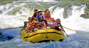 Build family bonds while whitewater rafting in the Canadian Rockies.