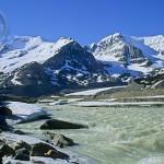 The gorgeous Sunwapta River in Jasper.