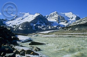 Experience the Columbia Icefields in Jasper on a motorcycle tour.