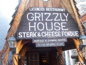 Swing by the Grizzly House.
