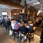 The lounge at the Balkan Greek Restaurant.