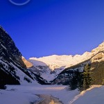 Lake Louise in winter is equally impressive.