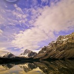 Bow Lake is one of Banff's most natural gems.