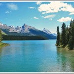 The natural beauty of Maligne Lake.