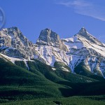 The stunning Three Sisters of Canmore.