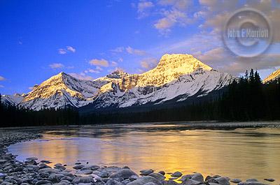 Mt Fryatt and the Athabasca River - A Jasper Photography Hotspot
