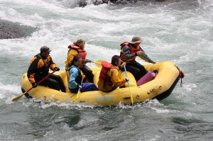 Whitewater Rafting the Elbow River in Alberta, Canada