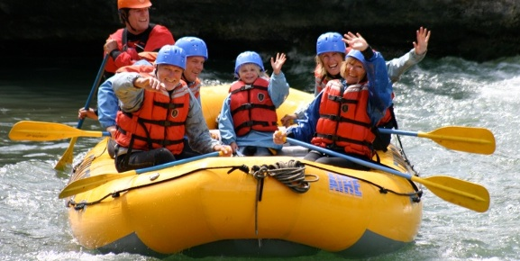 The mellow rapids of the Kananaskis River makes it perfect for families.