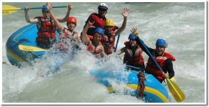 whitewater rafting in banff, alberta canada