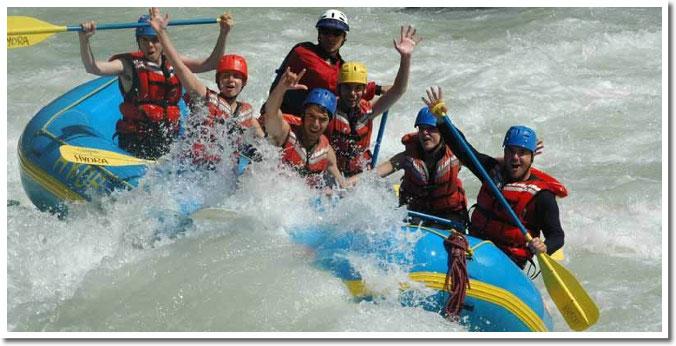 whitewater rafting in banff, alberta canada